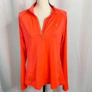 Old Navy go dry orange half zip L sweatshirt